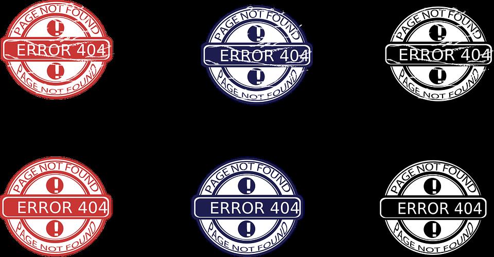 Stamp 404 Error Free Vector Graphic On Pixabay