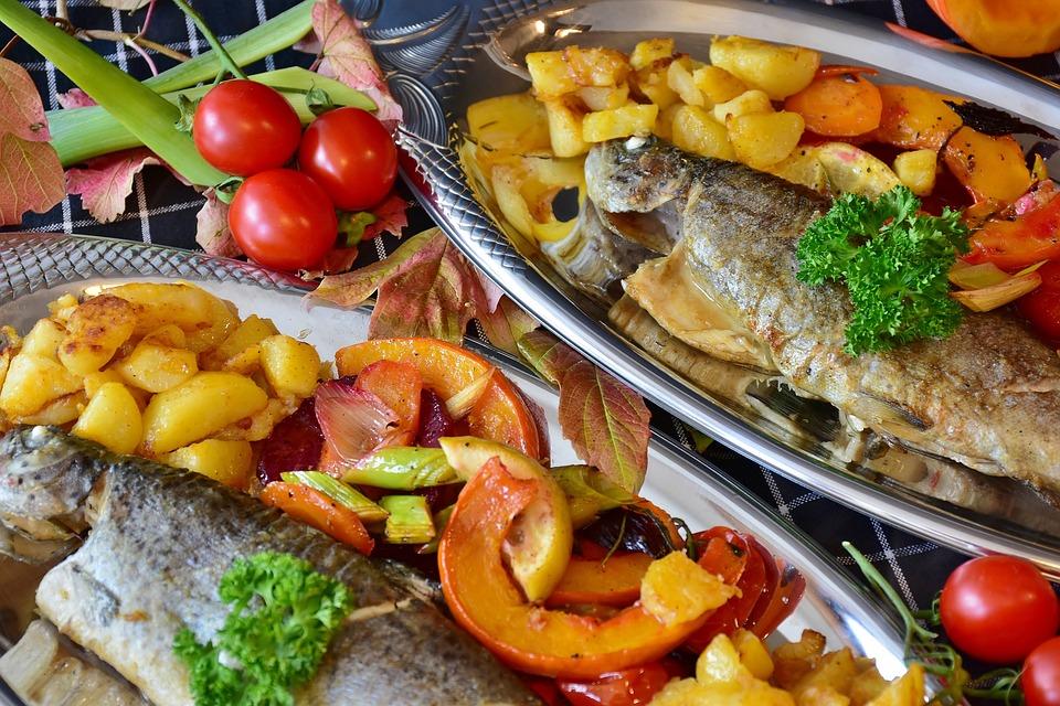 Trota, Pesce, Fried, Fry, Verdure, Zucca