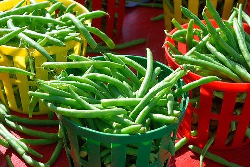 Haricots Verts, À Vendre, Marché