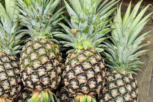 Pineapple, Fruit, Food