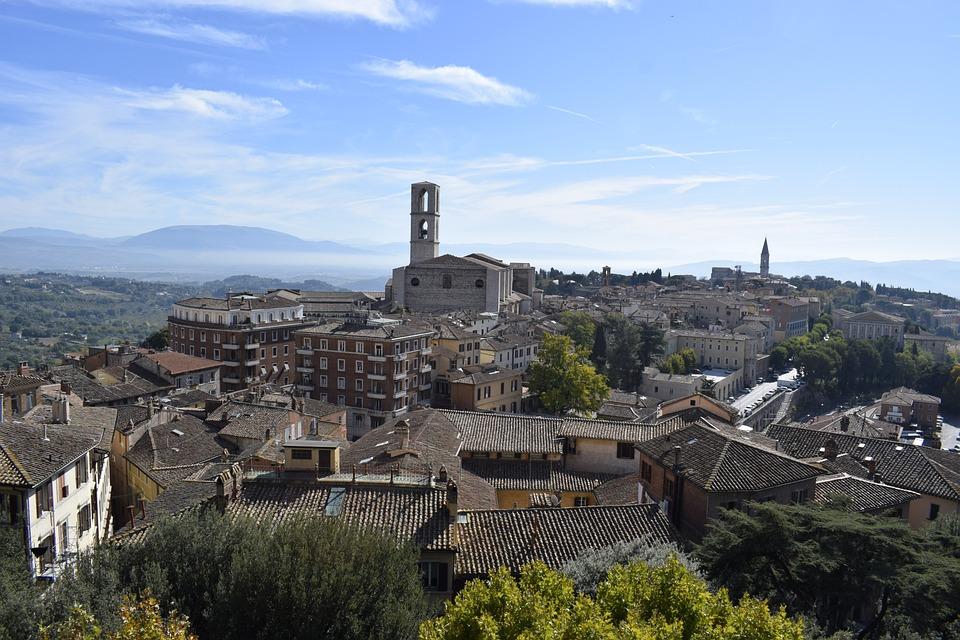 Perugia, Umbría, Pueblo Medieval, Italia, Edad Media