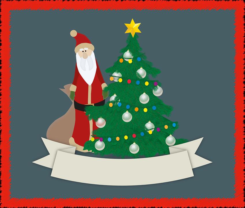 Christmas greeting card fir tree free vector graphic on pixabay christmas greeting card fir tree balls star m4hsunfo