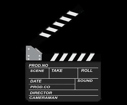 Openclipart, Symbol, Schwarz, Filmklappe