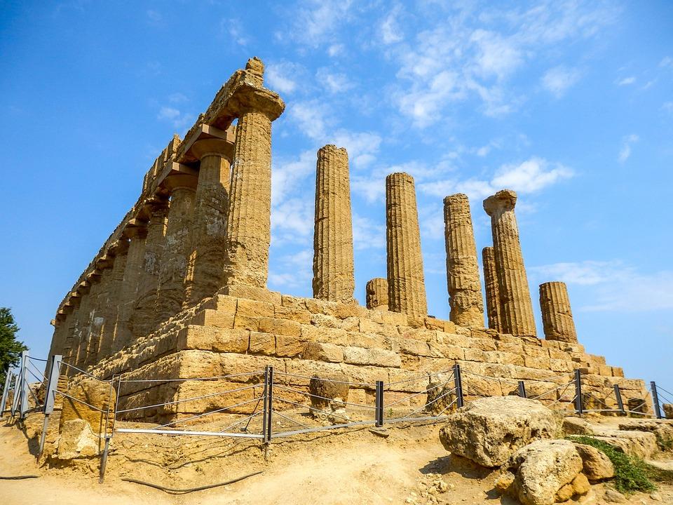 Monumento, Tempio Greco, Agrigento, Sicilia, Italia