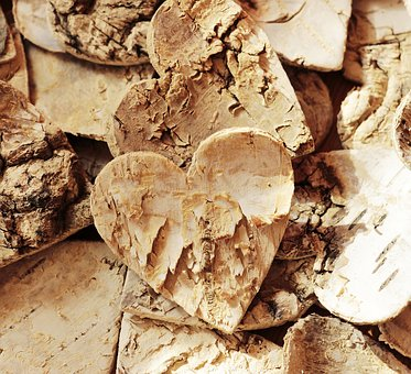 Wood Heart, Texture, Background