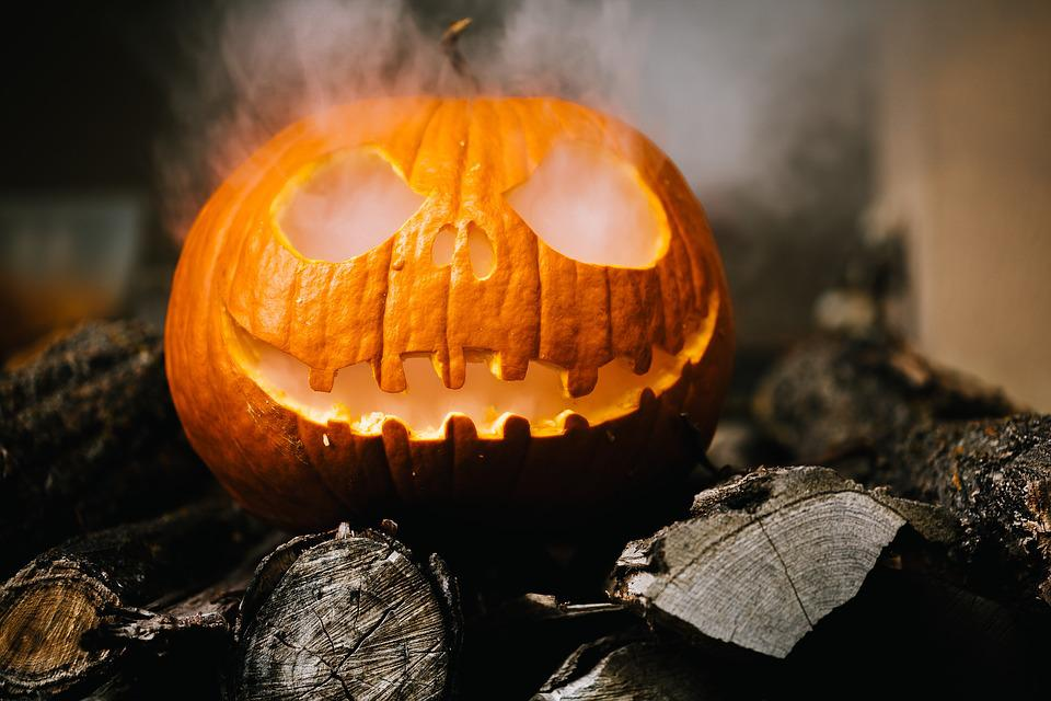 Halloween, Sinistro, Jack O Lantern, Zucca, Autunno