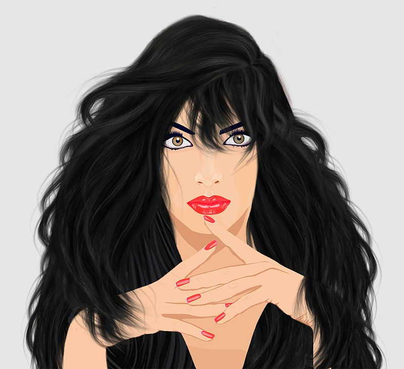 Free Illustration Graphic Design Lady Free Image On Pixabay - Hairstyle design pictures