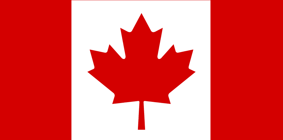 Canada, Flag, Maple Leaf, Red, White, Canadian Flag