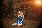 girl, nature, waiting