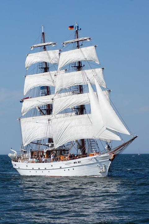 Segelschiff, Warnemünde, Ostsee