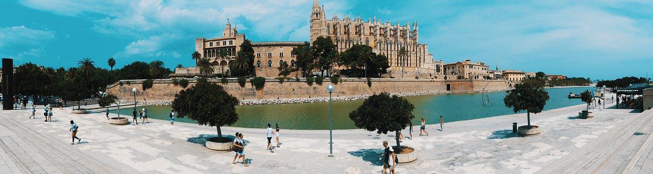 Qué ver qué hacer en Islas Baleares. Panorámica de Catedral de Santa María de Palma de Mallorca, Islas Baleares