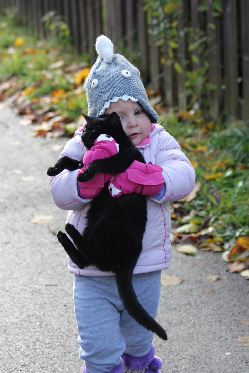 Красивые фото детей с кошками