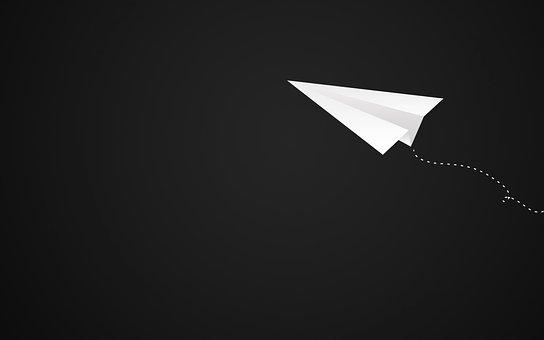 平面, 紙飛行機, Avion-白, 葉