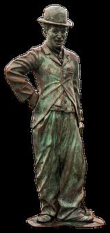 Charlie Chaplin, Statue, Bronze, Clown