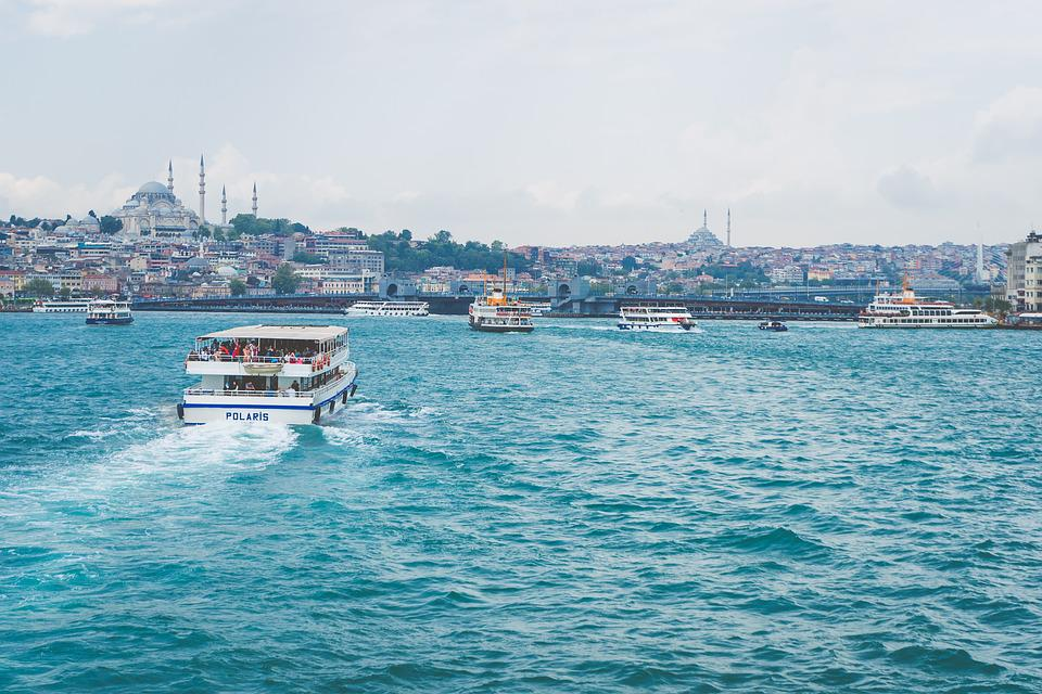 Istanbul, Schip, Sultanahmet, Bosporus, Turkije