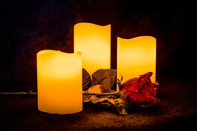 Candle Art Hd Wallpaper: Free Photo: Candle, Light, Rose, Glowing