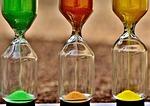 hourglass, time, sand