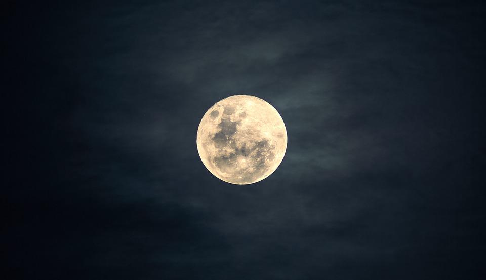 Kuu, Taivas, Yö, Kuutamo, Luonne, Tumma, Rauhallinen