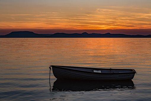 gambar sunset matahari terbenam gratis pixabay
