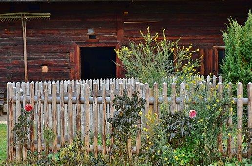 Cottage Garden, Garden, Fence