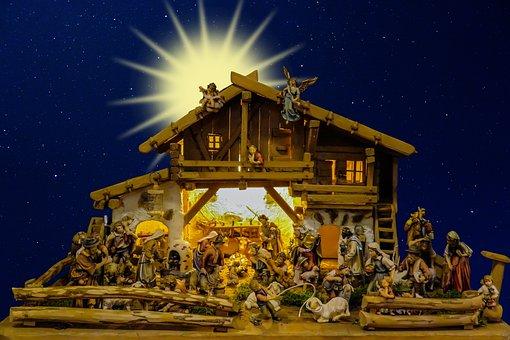 Christmas Nativity Scene Crib