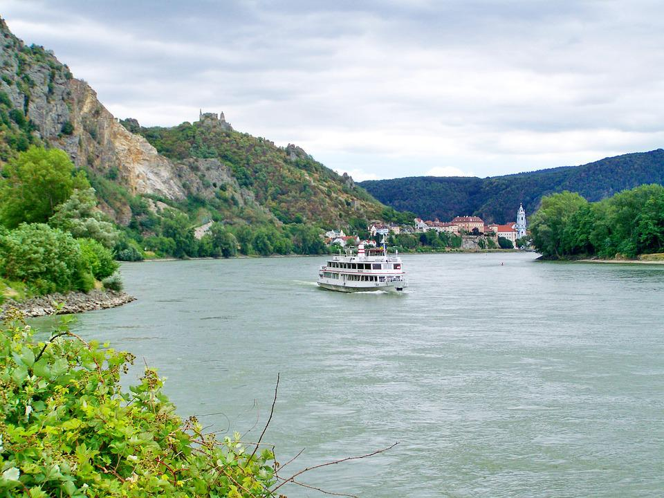Duna Folyó, Tájkép, Dunakanyar, Ausztria