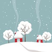 Wintry, House, Tree, Winter, Snow