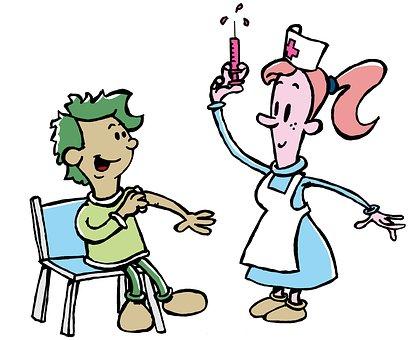Krankenschwester, Impfung, Junge