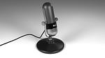 model, microphone