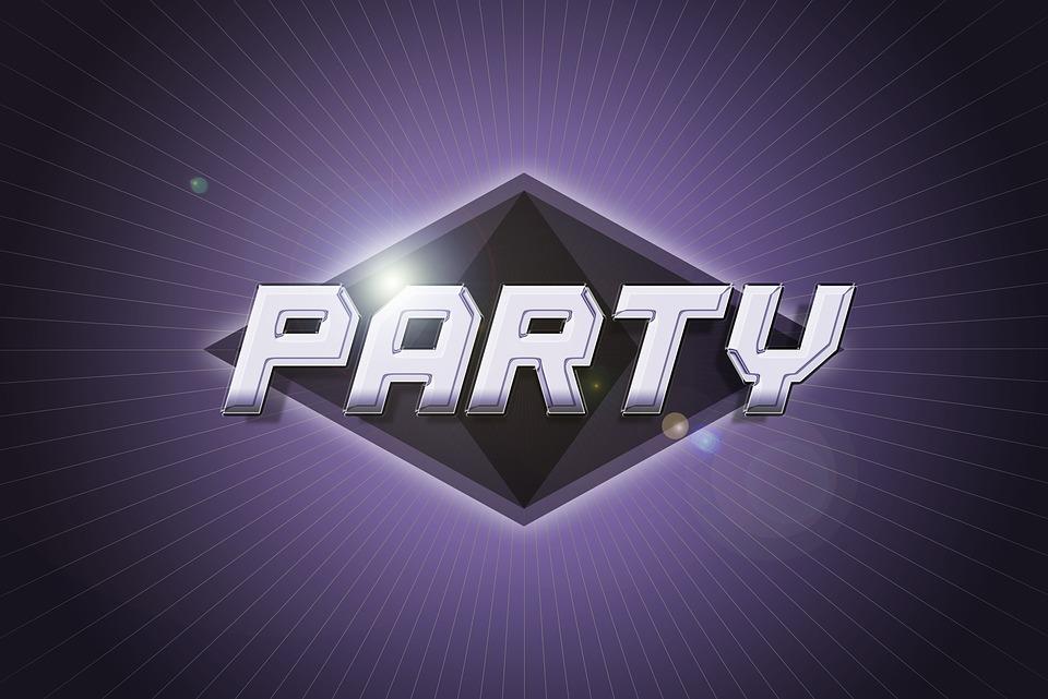 party logo chrome free image on pixabay