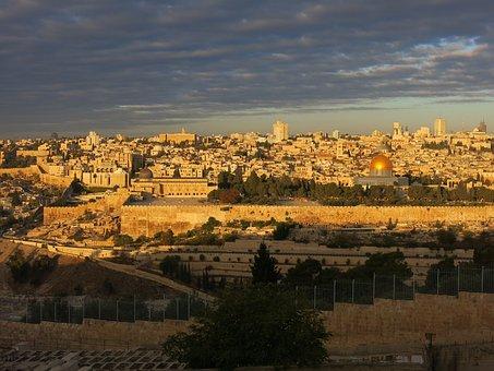 Jerusalem, Israel, Morgenstimmung
