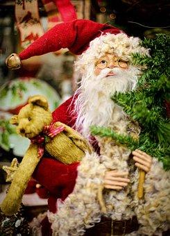 クリスマス, サンタ, 休日, クラウス, 赤, 祝賀, 幸せ, 陽気な