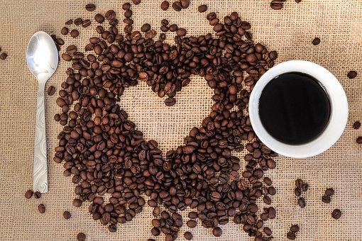 Coffee, Coffee Beans, Heart, I Love