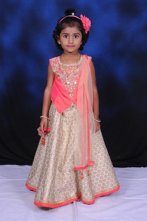 Baby Indian Girl Model Baby Pink Dress Baby Lehanga