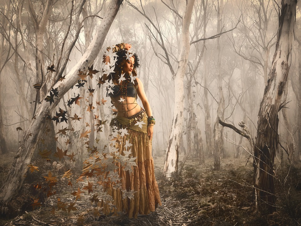Forest Of Dreams, Forest, Woman, Autumn, Leaves