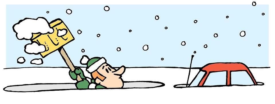 snow shovelling winter free image on pixabay