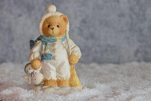Winter, Bear, Bears, Figure, Decoration