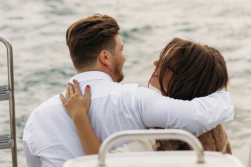 On A Yacht, Sweethearts, Kiss, Lovers