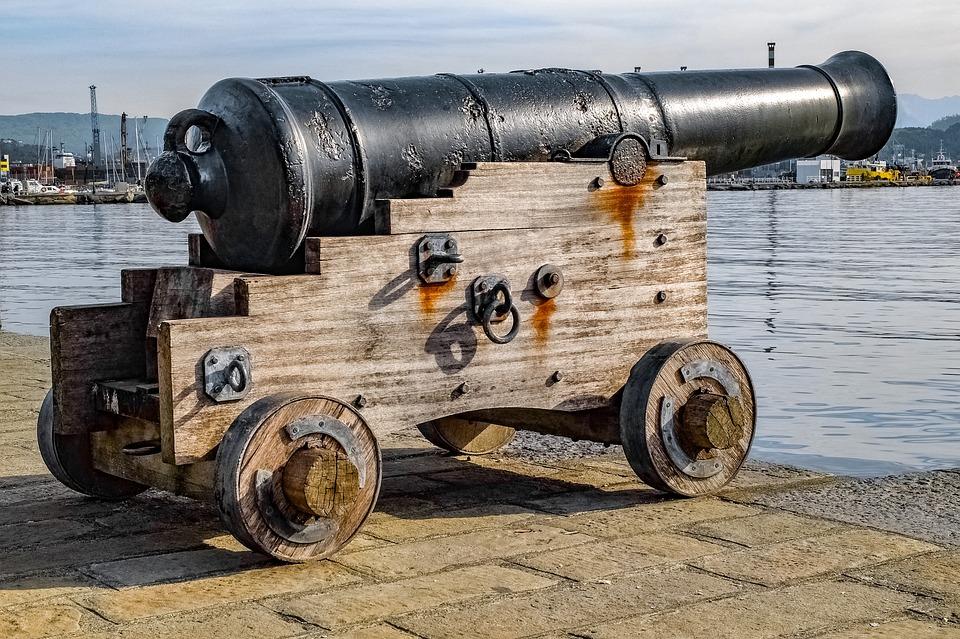 大砲、砲身、大砲、軍事、歴史、古い