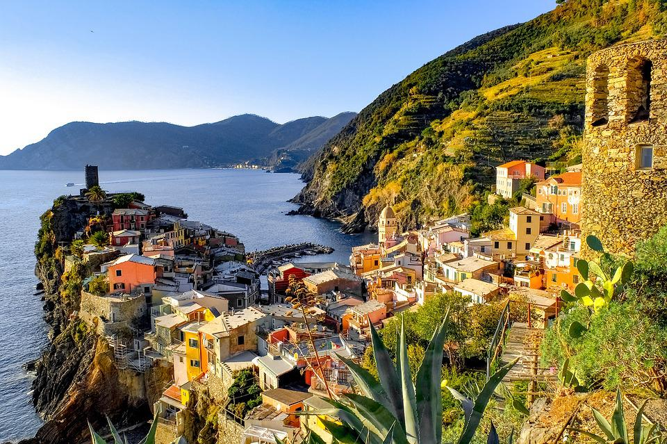 Cinque Terre, Vernazza, Villaggio, Mediterraneo, Costa