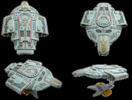 Space Ship Model, Star Trek, Uss Defiant