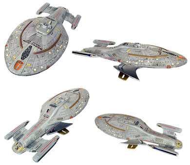 Space Ship Model, Star Trek, Uss Voyager