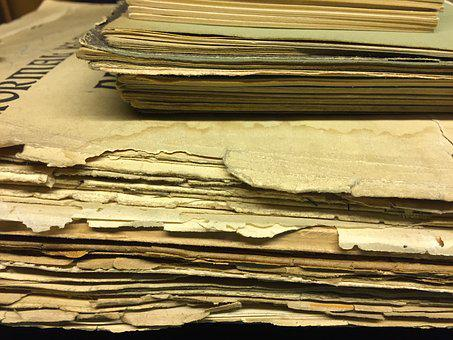 Old, Paper, Sheet Music, Brown, Vintage