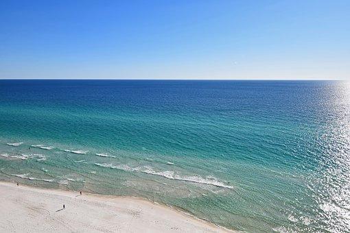 自然, 砂, ビーチ, 旅行, メキシコ湾, パナマシティビーチ, 風光明媚な