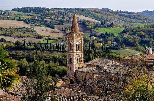Campanile, Urbino, Marche, Gotico