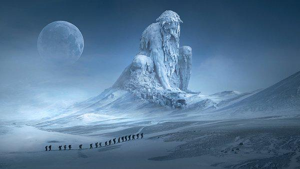 Fantasy, Wanderer, Sculpture, Monument, Dream, Near Death Experience