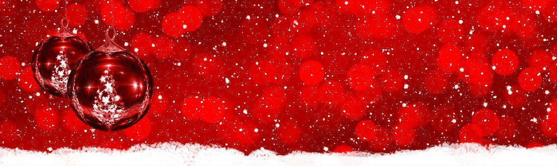 Rot, Weiß, Schnee, Silhouette