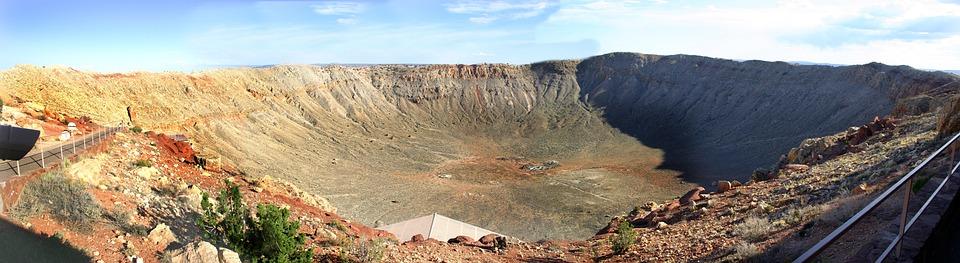 Meteor Crater Arizona, Meteor, Crater, Arizona, Desert