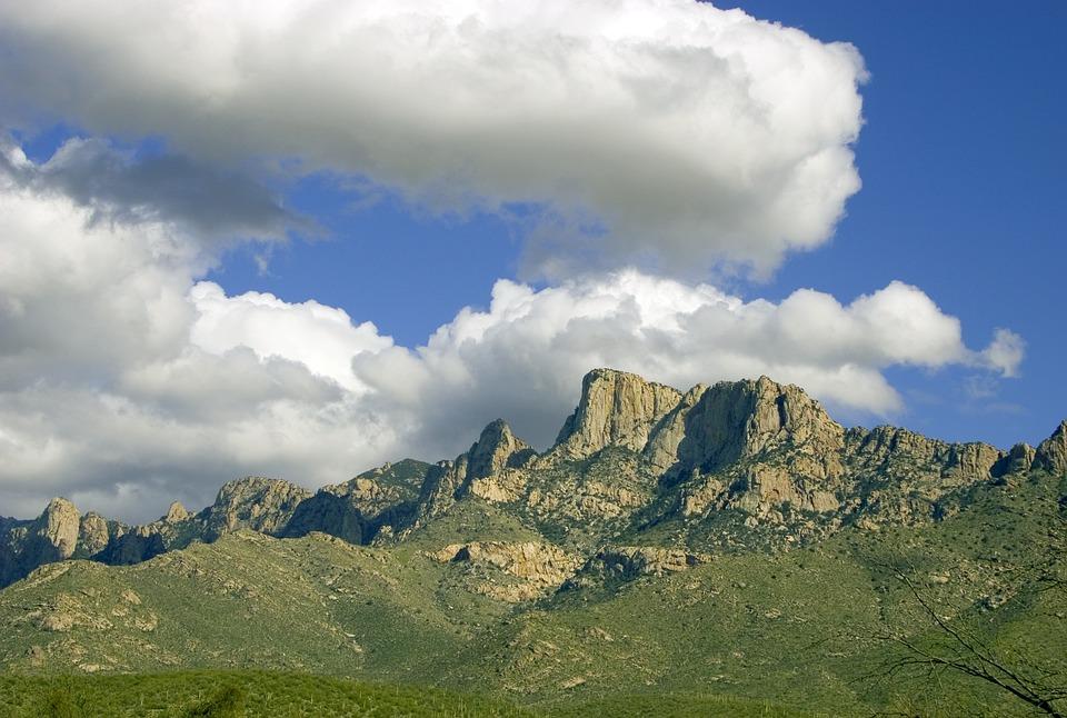 カタリナ山ツーソン, アリゾナ州, カタリナ, ツーソン, 南西, 西部, 砂漠, 山, 風光明媚な, 風景