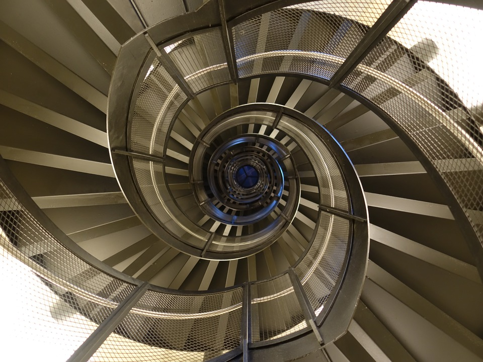 Spiral Staircase, Spiral, Metal, Geometry, Stairs